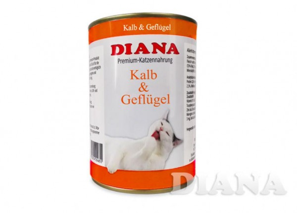 DIANA Cat Kalb-Geflügel Dosenfleisch